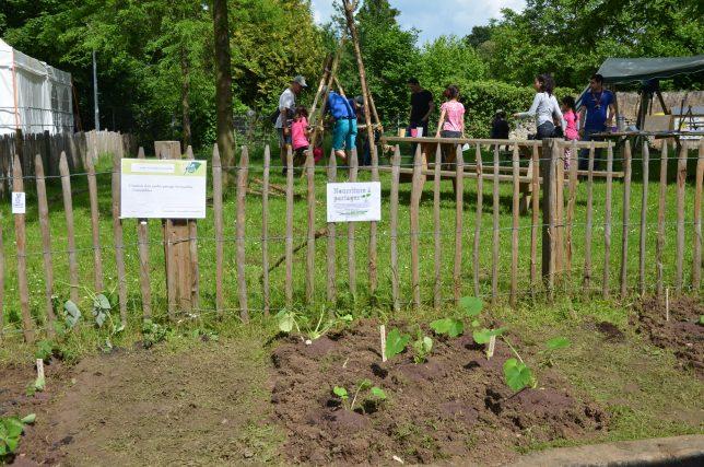 Les parcelles du jardin des Incroyables Comestibles à Borny, Metz - à cultiver et cueillir en libre service, dans une ambiance conviviale !