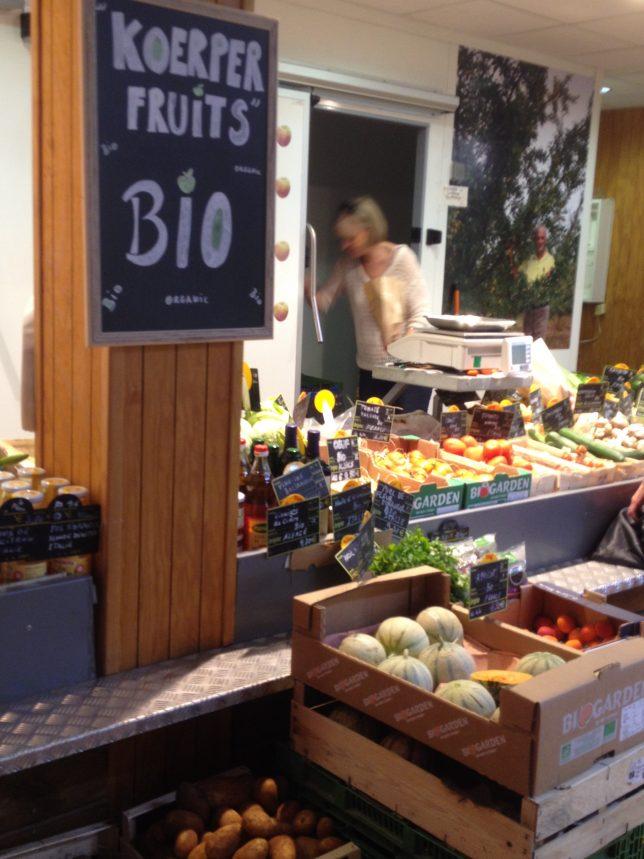 Devanture de Koerper Fruits, Marché Couvert de Metz