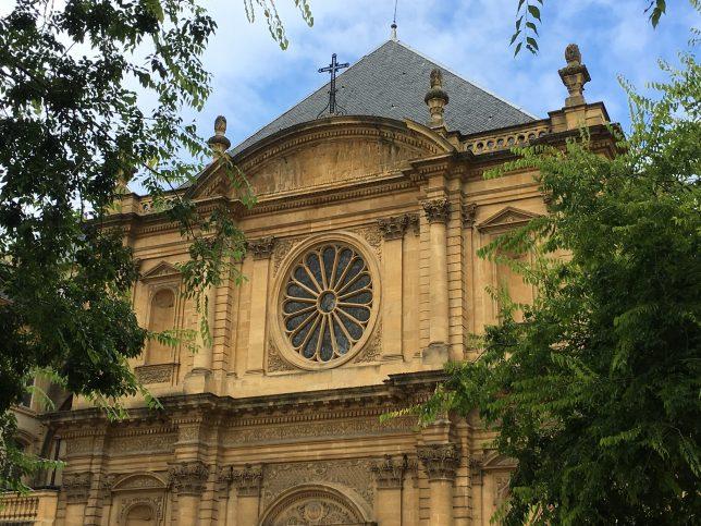 Façade de l'église Saint Clément à Metz
