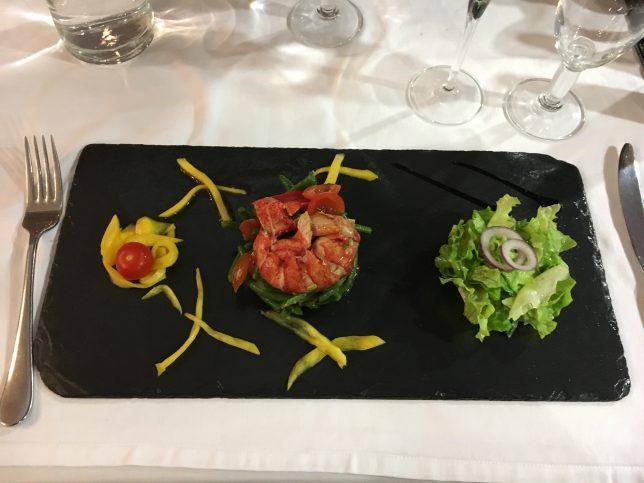 salade de homard servie à la Brasserie L'Eden, Metz