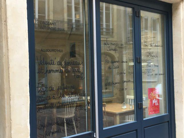Façade de l'Instant Café, rue Taison à Metz